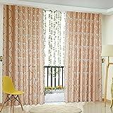 Amazingdeal365 Schal Vorhang Flugfensterdeko Voile Gardinen Schal 2m *1 m Set für Tür Schlafzimmer Wohnzimmer Kinderzimmer Balkon Terasse Spielzimmer (dunkel Kaffe)