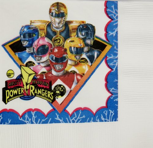 Classic Power Ranger Beverage Napkins 16 Count