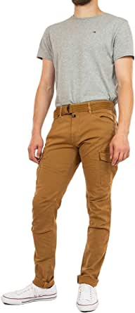 Kaporal Pantalon Cargo Style Treillis, Coupe Slim Kali