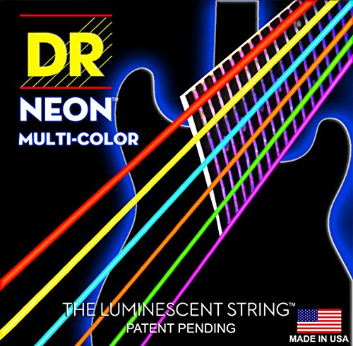 Dr Strings nbe11 11–50 Extra Schwere Set Handmade Neon High Definition blau beschichtet Electric Strings