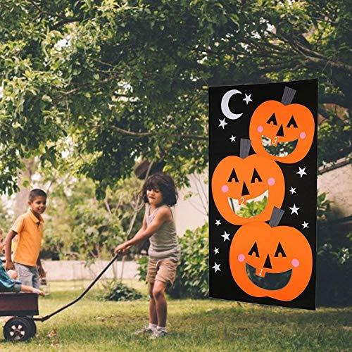 Halloween Ornamente, Kürbis Vlies Ornamente Filz Spiel werfen Sandsäcke Banner