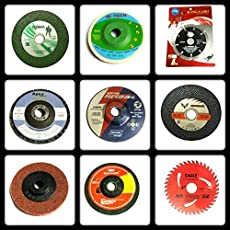 TOOLSCENTRE 333 Giant Combo of 9 Pieces (Grinding Wheels/Discs Suitable for Cutting Wood/Metal /Brick/Marble, Grinding, Polishing and Buffing)