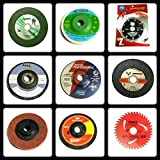 TOOLSCENTRE 333 Giant Combo of 9 Pieces (Grinding Wheels/Discs Suitable for Cutting Wood/Metal/Brick/Marble, Grinding, Polishing and Buffing)