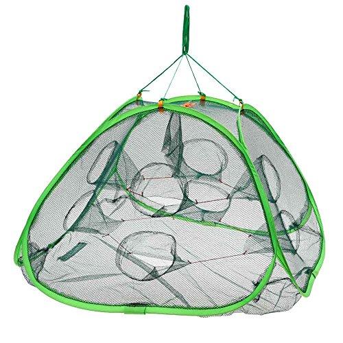 Sixmad (TM) pieghevole automatico Rete da pesca granchio Pesce Aragosta gamberi ciprinidi Esca per la pesca Trappola Fusioni Dip Drift Shrimping Cage netto 75 * 75 * 45cm