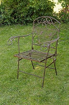 Nostalgie Gartensessel Eisen 15kg Gartenstuhl Sessel Stuhl antik Stil chair iron