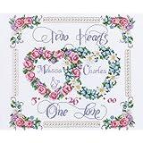 Janlynn Cross Stitch Kit, Two Hearts One Love