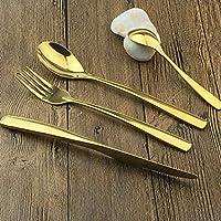 Hemotrade Cuchillo de Oro y Cuchara Tenedor Cubiertos Juego de Tenedor y Cuchara