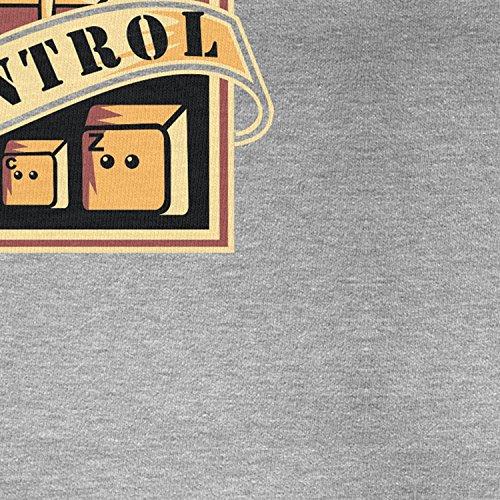 Planet Nerd Always in Control - Herren T-Shirt Grau Meliert