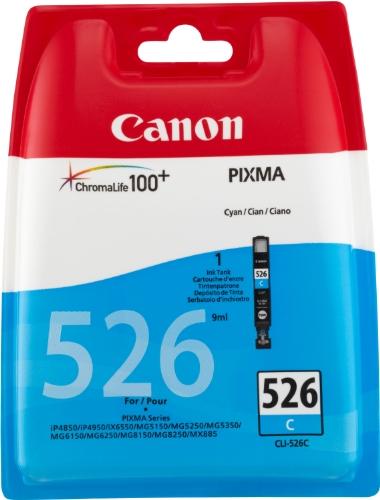 Canon CLI-526 C Cartouches séparées pour Imprimante jet d'encre iP4850/MG5150/5250/6150/8150 Cyan