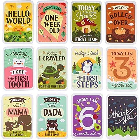 Baby Milestone Cards & Keepsake Box Gift Set 3in1