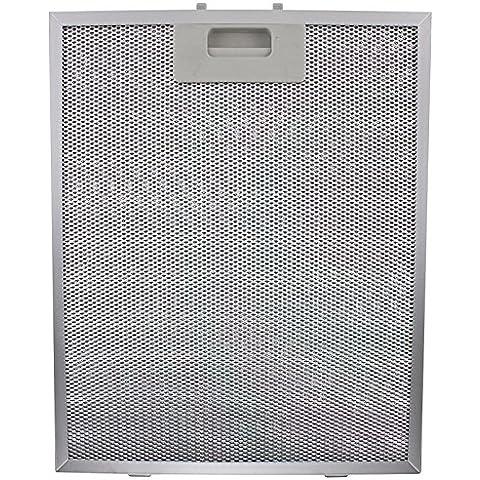 SPARES2GO Filtro de grasa de metal para Turboair (Elica) Campana (Plata, 320x 260mm)