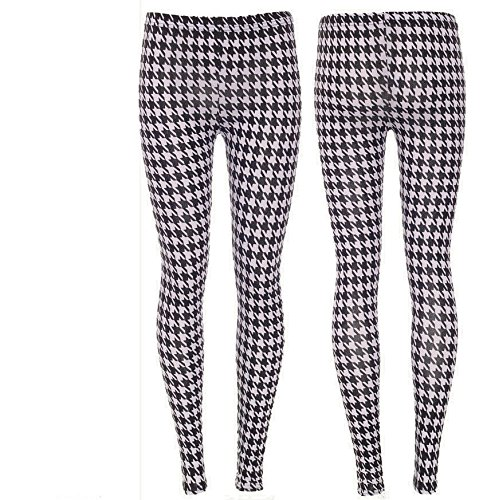 womens-celeb-blacklively-dog-hound-tooth-print-trousers-ladies-ful-leggings-8-14-m-l
