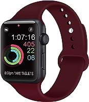 AK Compatible Apple Watch Bracelet 42 mm 38 mm 44 mm 40 mm, Bracelet de Sport en Silicone Remplacement Compatible la...