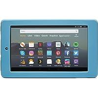 Nupro Custodia resistente agli urti per tablet Fire 7, colore: blu-grigio