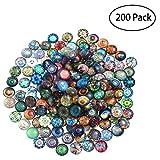 ROSENICE 200pcs 12mm Tessera mosaico di vetro per arte bricolage fabbricazione di gioielli Fornitura