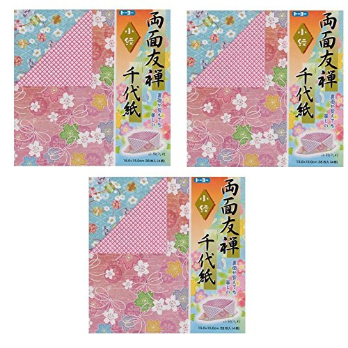 Nihonseiboku Origami Paper Yuzen Hand Dyed Chiyogami 2.95 x 2.95inch 100sheets