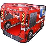freneci Tente de Jeu de Portable Tente Pop Up Maison de Jeu Intérieure et Extérieure - 114x73x73cm - Pompiers