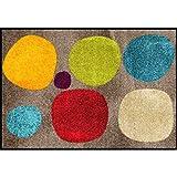 Salonloewe Fußmatte waschbar Broken Dots Colourful 50 x 75 cm Schmutzfangmatte