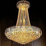 Led Rund Kristallleuchter, Wohnzimmer Duplex Treppen Hotel Restaurant Villa Engineering Lampen (Größe: 6 Leuchtet/40 * 50 Cm)