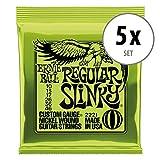 Ernie Ball 2221 Regular Slinky E-Gitarrensaiten 5er Pack