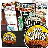 Zur Jugendweihe | Männerbox | Geschenk Set | Zur Jugendweihe | INKL. Markenbuch | Männer Paket | Jugendweihe Geschenk lustig | mit Kondomen, Pfeffi Likör, Bier und mehr