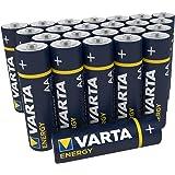 """Varta Pila Energy AA Mignon LR06 (paquete de 30 unidades), pila alcalina – """"Made in Germany"""" – Adecuado para radios y relojes"""