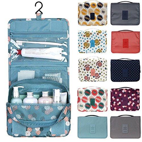 Bluelover Lavado prolijo bolso cosmetico maquillaje compacto almacenamiento bolsa caso bano organizador de malla a prueba de agua-melon rojo