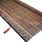 Tende a rullo Tende di Personalizzazione - tonalità di bambù Naturale Marrone con Ganci, Schermo Semi-Privacy al 50% for Veranda Gazebo della Porta D'ingresso (Size : W/26''×H/48''(66×122cm))