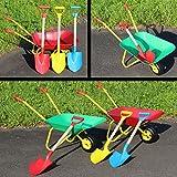 SET Metallschubkarre mit SPATEN Kinder Schubkarre für Garten