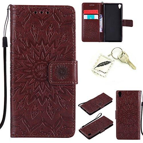 Preisvergleich Produktbild Silikonsoftshell PU Hülle für Sony Xperia XA (5 Zoll) Tasche Schutz Hülle Case Cover Etui Strass Schutz schutzhülle Bumper Schale Silicone case+Exquisite key chain X1) #AD (3)