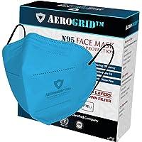AeroGrid FFP2 (Pack of 1, Blue) Earloop Reusable N95 Mask for Unisex