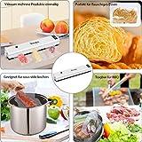 Vakuumiergerät,Ymiko Mini Vakuumierer,Lebensmittel bleiben bis zu 8x länger Frisch,30cm lange Schweißnaht,einfach zu bedienen,inkl.20 gratis Profi-Folienbeutel,Schwarz-Weiß - 5