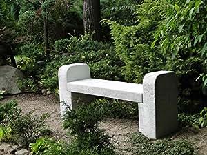 Wunderschöne Sitzbank Gartenbank modern aus Steinguss, frostfest