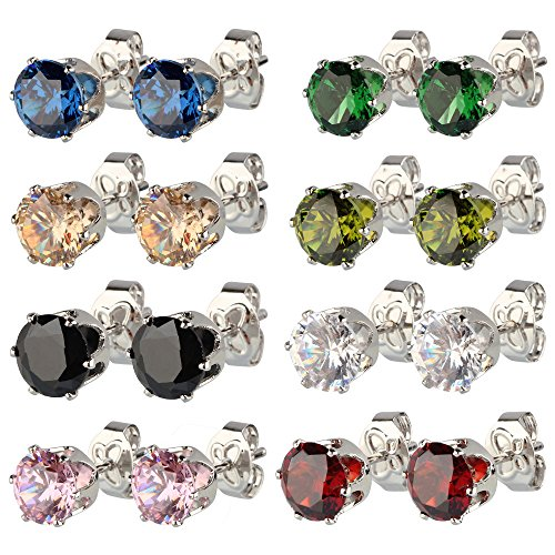 beauty7-lot-de-8-pairs-boucles-doreilles-clous-acier-inoxydable-doxyde-zircon-6mm-incrustation-color