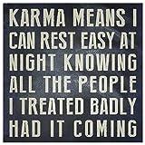 Karam bedeutet Zeichen - beruhigen mit Entspannung Zeit Wort Dekor Zeichen
