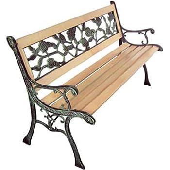 vidaxl panchina da giardino xl in ferro battuto legno