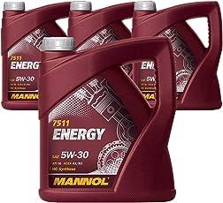 MANNOL 4 x 5 Liter Energy 5W-30 HC Synthese