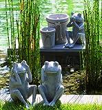 3 Frösche Garten Terasse Balkon Wintergarten Frosch nicht sehen hören sagen