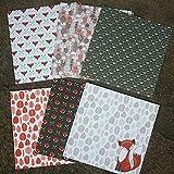Origami Pape, 24 feuilles de papier de 15,2 cm de renard pour scrapbooking et loisirs...