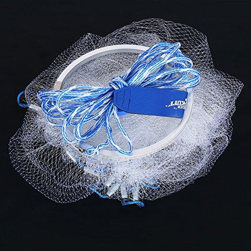 Dwawoo Fischernetz Nylon Gaze 240 galvanisierte Eisen Anhänger Amerikanischen Stil Netting Wurfnetz -