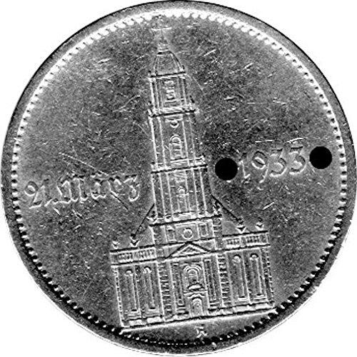 """5 Reichsmark Deutschland, 1934 A, """"Eröffnung des Reichstages - Garnisonskirche"""" (J.: 356) Sehr Schön, mit Datumsangabe"""