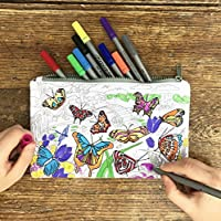 Colour & Learn Butterfly Pencil case with Washable Fabric Markers