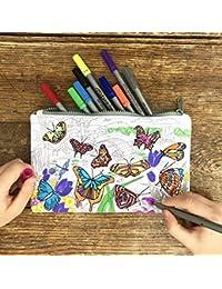 4ec49d4465 ... Borsa per Make Up Organizzare Sacchetto Cosmetico Borsetta da… Colore &  Learn farfalla di matita
