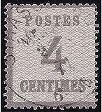 Goldhahn Elsaß-Lothringen Nr. 3 I a gestempelt Geprüft Briefmarken für Sammler