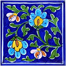 Om Craft Villa Blue Pottery Decorative Tiles For Wall