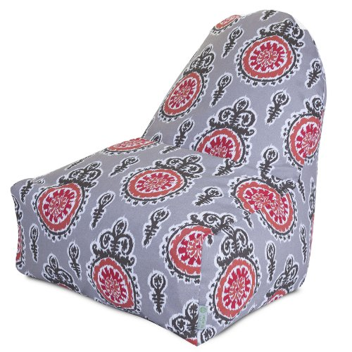 Majestic Home Goods Kick-It Stuhl Michelle, Lachs - Chair Ottoman Couch