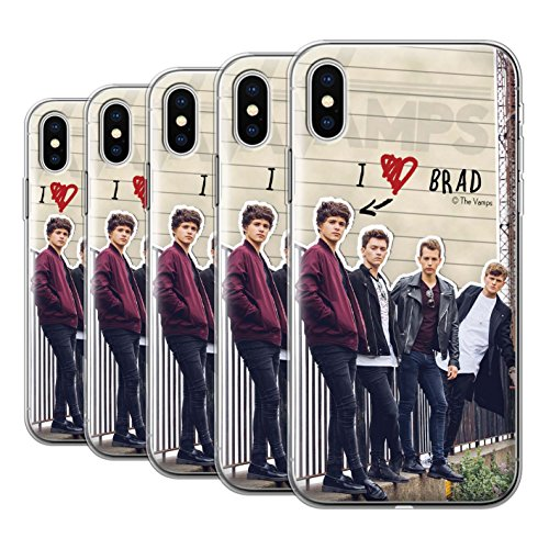 Offiziell The Vamps Hülle / Gel TPU Case für Apple iPhone X/10 / Band Muster / The Vamps Geheimes Tagebuch Kollektion Pack 5pcs