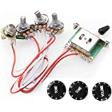 RUNNCI-YUN/Câblage Du Circuit Pour ST Guitare électrique, Boutons de commande 2T1V Commutateur 5 voies 500K Pots avec Jack po