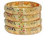 Mansiyaorange Gold Plated Bangle Set For...