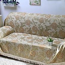 HM&DX Antideslizante Cubierta del sofá del Chenille, Funda Protectora Máquina Lavable Resistente al Rayado Anti